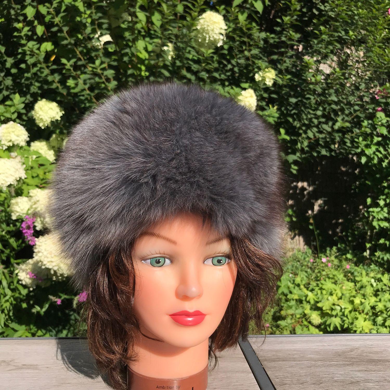 Fur hat 'Grey Arctic Fox', Holland, Vintage clothing, Arnhem,  Фото №1
