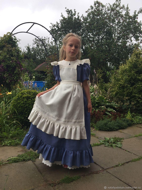 Dress linen for girls ' Cinderella', Dresses, Ivanovo, Фото №1