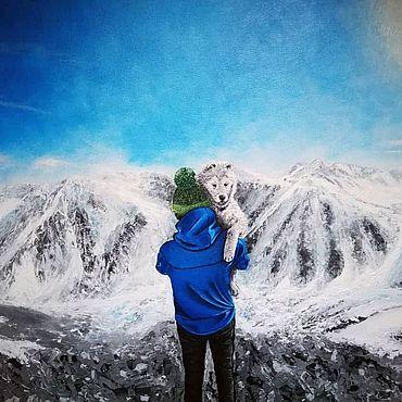 Картины и панно ручной работы. Ярмарка Мастеров - ручная работа В горах, авторская картина. Handmade.