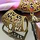 Кольцо-бейл для создания украшений с платком или шарфом. Есть колечки для крепления подвески, кулона или камеи Пример использования