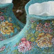 """Обувь ручной работы. Ярмарка Мастеров - ручная работа Чуни """"Весенний ручеек"""". Handmade."""