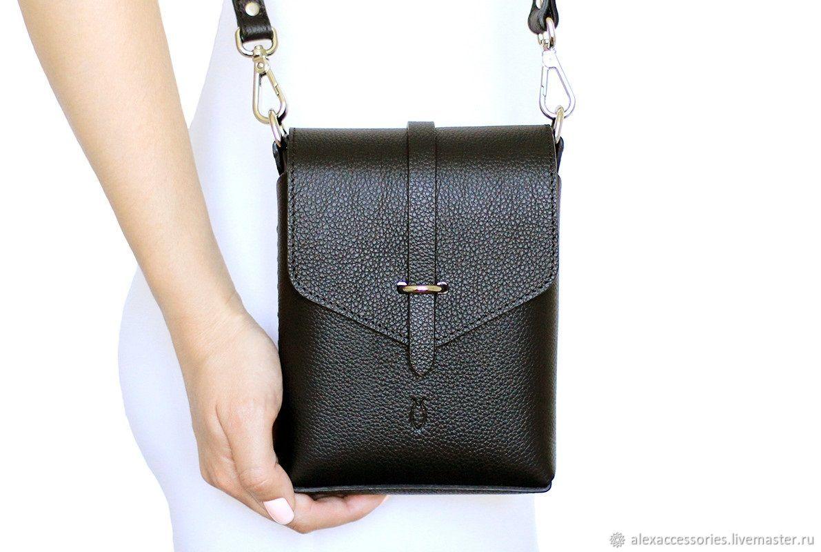 Черная кожаная сумка Ida, Классическая сумка, Москва,  Фото №1