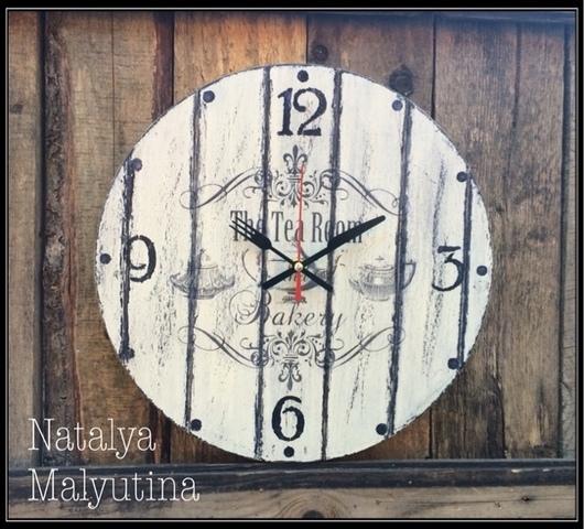 """Часы для дома ручной работы. Ярмарка Мастеров - ручная работа. Купить Часы настенные """"The tea room"""". Handmade."""