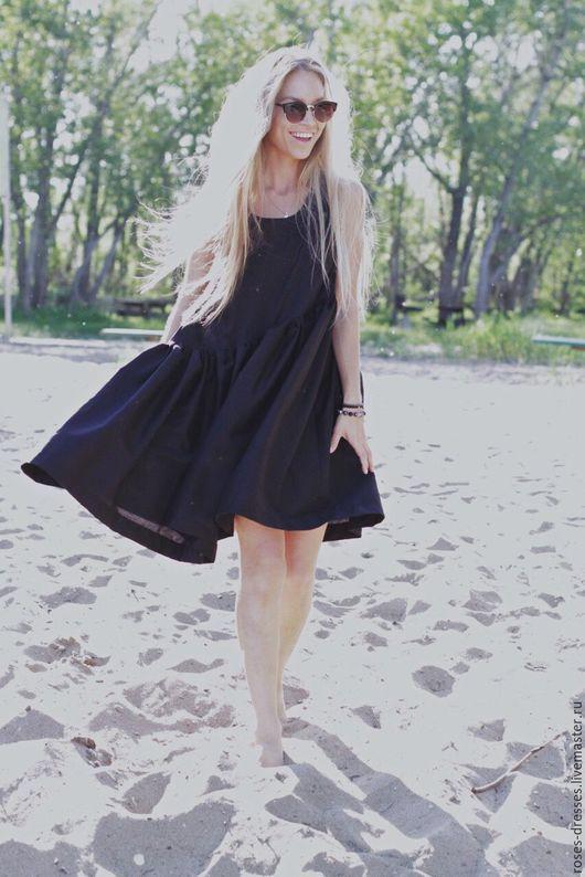 """Платья ручной работы. Ярмарка Мастеров - ручная работа. Купить Платье свободного кроя """"Black style"""". Handmade. Черный, хлопок"""