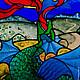 Элементы интерьера ручной работы. Из сказок. Витраж. Стекло, металл, обжиговая многослойная роспись.. Вера Юрьева.Арт - Стекло, украшения (vera-vitrage). Интернет-магазин Ярмарка Мастеров.
