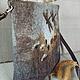 Сумки и аксессуары ручной работы. Сумка валяная Сепия. Лариса Ермак. Ярмарка Мастеров. Разноцветный, шерстяная акварель, шерсть