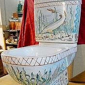 Дизайн и реклама handmade. Livemaster - original item Toilets painted. Handmade.