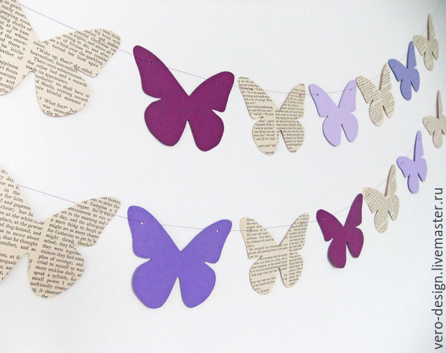 Бабочки для гирлянд своими руками 221