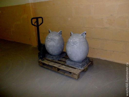 Дизайн экстерьера ручной работы. Ярмарка Мастеров - ручная работа. Купить коты. Handmade. Серый, для дома и интерьера, бетон