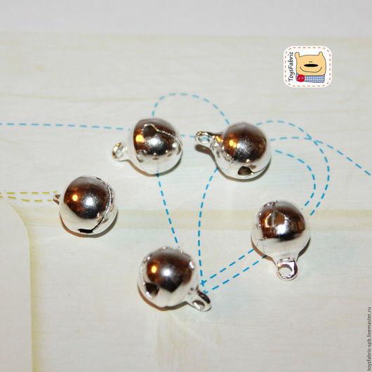Для украшений ручной работы. Ярмарка Мастеров - ручная работа. Купить Бубенчики металлические 10мм золото  серебро  подвеска декоративная. Handmade.
