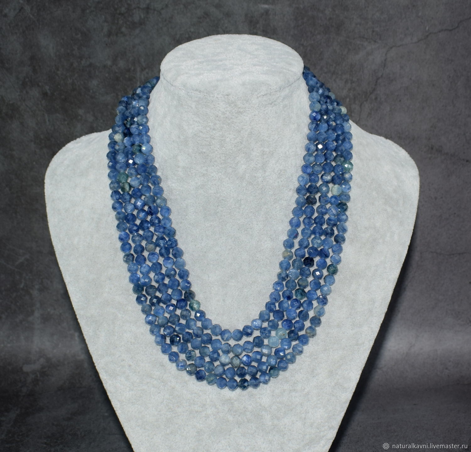 Natural Kyanite Beads with Cut, Beads2, Moscow,  Фото №1