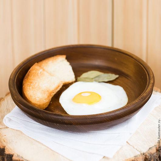 Тарелки ручной работы. Ярмарка Мастеров - ручная работа. Купить Кедровая тарелка 22см, Блюдо из сибирского кедра - ручная работа Т19. Handmade.