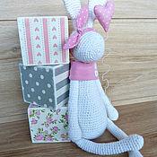 Куклы и игрушки ручной работы. Ярмарка Мастеров - ручная работа Зайка вязаная. Handmade.
