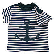 Работы для детей, handmade. Livemaster - original item T-shirt Anchor. Handmade.