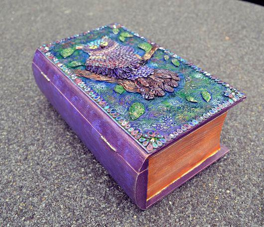 """Персональные подарки ручной работы. Ярмарка Мастеров - ручная работа. Купить Книга - шкатулка """"Сова"""". Handmade. Комбинированный, сова в подарок"""