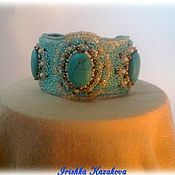 Украшения handmade. Livemaster - original item Bracelet with turquoise beaded Turquoise charm. Handmade.