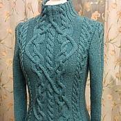 """Одежда ручной работы. Ярмарка Мастеров - ручная работа Пуловер """"Нифритовый"""". Handmade."""