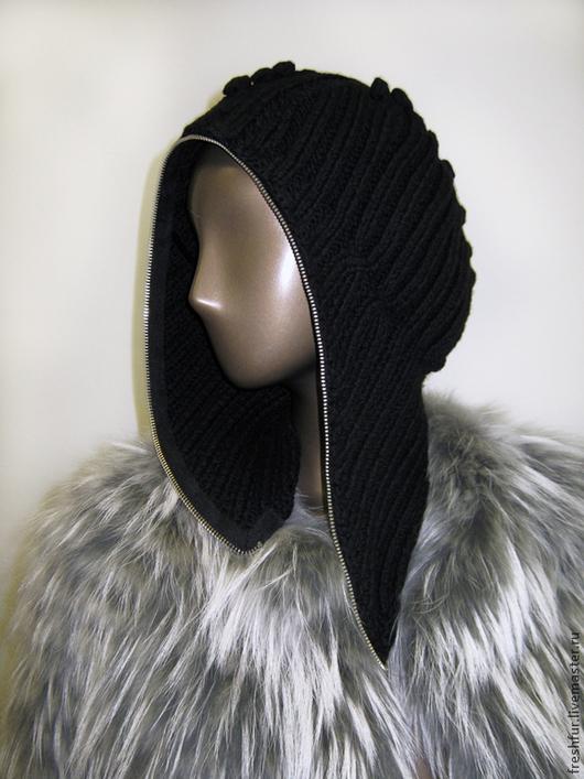 """Шапки ручной работы. Ярмарка Мастеров - ручная работа. Купить малахай вязаный """"Либерти"""". Handmade. Черный, стильная шапка"""