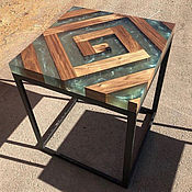 Столы ручной работы. Ярмарка Мастеров - ручная работа Стол река. Стол лофт. Epoxy and wood table. Table loft.. Handmade.