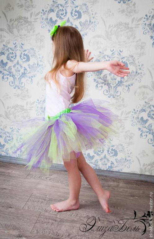 Одежда для девочек, ручной работы. Ярмарка Мастеров - ручная работа. Купить Юбочка туту для девочек+ободочек. Handmade. Сиреневый, юбочка