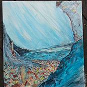 """Картины и панно ручной работы. Ярмарка Мастеров - ручная работа Картинка """"По ту сторону сизых гор"""". Handmade."""