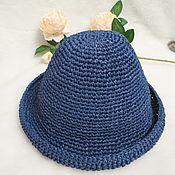 Шляпы ручной работы. Ярмарка Мастеров - ручная работа Шляпы: Красотка из рафии. Шляпа-панама. Handmade.