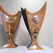 Винтаж ручной работы. Ярмарка Мастеров - ручная работа Две вазы для цветов. Handmade.