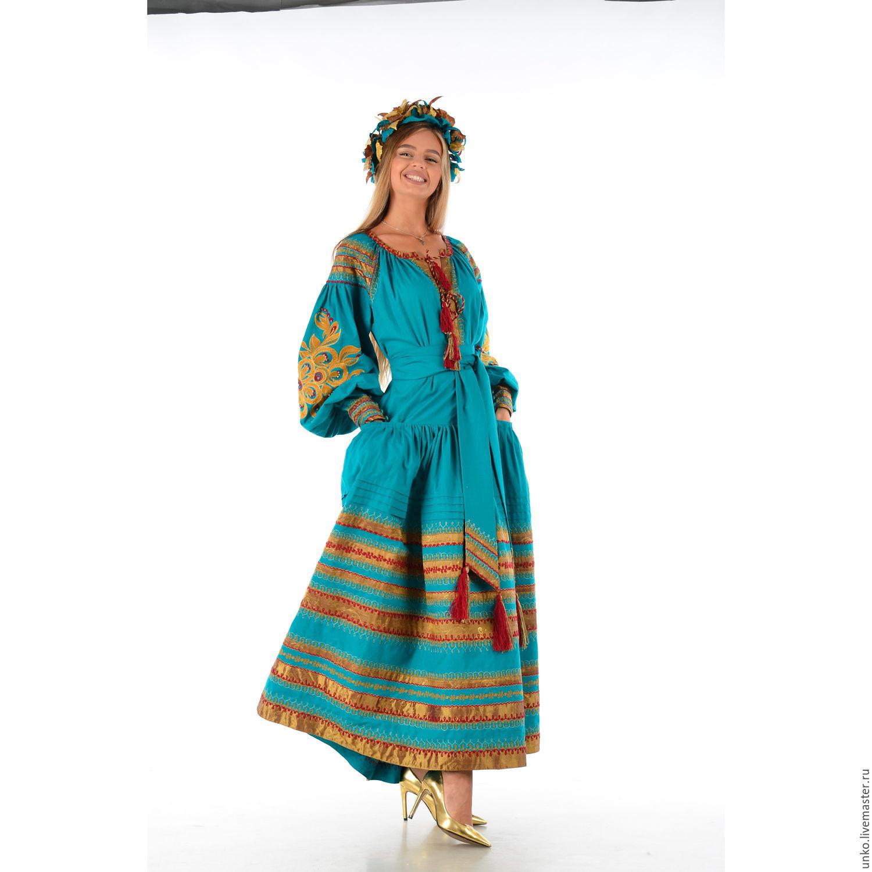 Платье в народном стиле интернет магазин