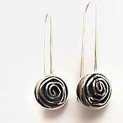 Украшения handmade. Livemaster - original item Earrings silver rose (silver 925). Handmade.