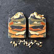 Мыло ручной работы. Ярмарка Мастеров - ручная работа Семь глин - яблоко - жасмин. Handmade.