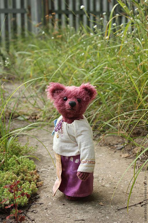 Мишки Тедди ручной работы. Ярмарка Мастеров - ручная работа. Купить Авторская мишка Зоя  (Летом на даче...) Резерв. Handmade.
