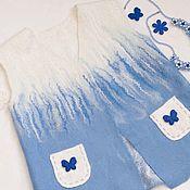 Одежда ручной работы. Ярмарка Мастеров - ручная работа Жилет валяный детский для девочки 4 лет. Handmade.