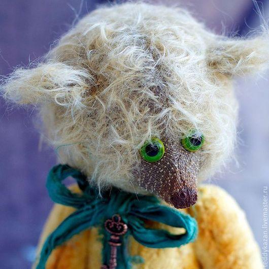 Мишки Тедди ручной работы. Ярмарка Мастеров - ручная работа. Купить Тедди мишка Ежи. Handmade. Желтый, мохер, опилки