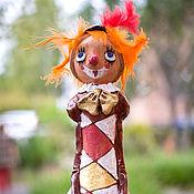 """Для дома и интерьера ручной работы. Ярмарка Мастеров - ручная работа """"Рыжий клоун"""", авторская керамическая фигурка. Handmade."""