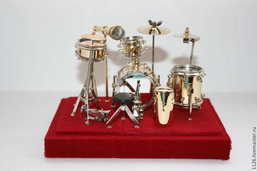 Миниатюра ручной работы. Ярмарка Мастеров - ручная работа. Купить барабанная установка. Handmade. Барабонная установка, все для украшений, металлическая фурнитура