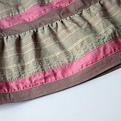 Одежда ручной работы. Ярмарка Мастеров - ручная работа Красивая длинная ярусная юбка с розовыми полосками. Бохо стиль. Handmade.