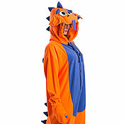 Субкультуры handmade. Livemaster - original item Costume kigurumi Dragon Orange ORANGE FUNKY DRAGON KIGU. Handmade.