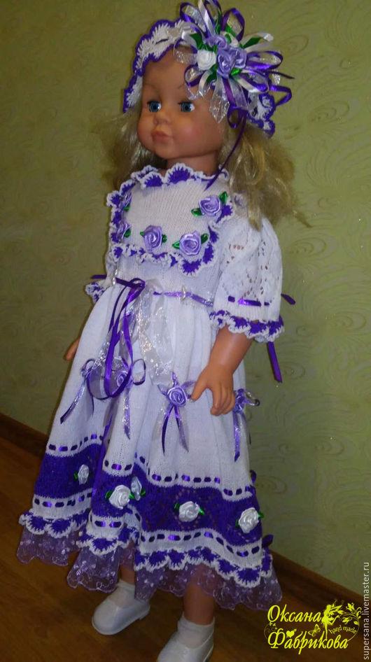 Одежда для девочек, ручной работы. Ярмарка Мастеров - ручная работа. Купить Платье - повязка крючком для девочки. Handmade. Ярко-красный