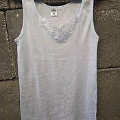 Винтаж handmade. Livemaster - original item White t-shirt with lace, ,100% cotton,. Handmade.