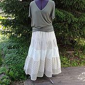 Одежда ручной работы. Ярмарка Мастеров - ручная работа №187.1 Льняная летняя юбка. Handmade.