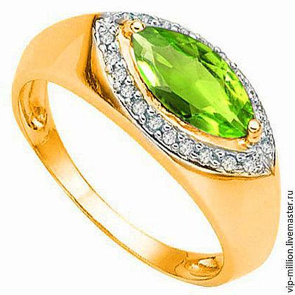 серебряные украшения, кольцо с перидотом