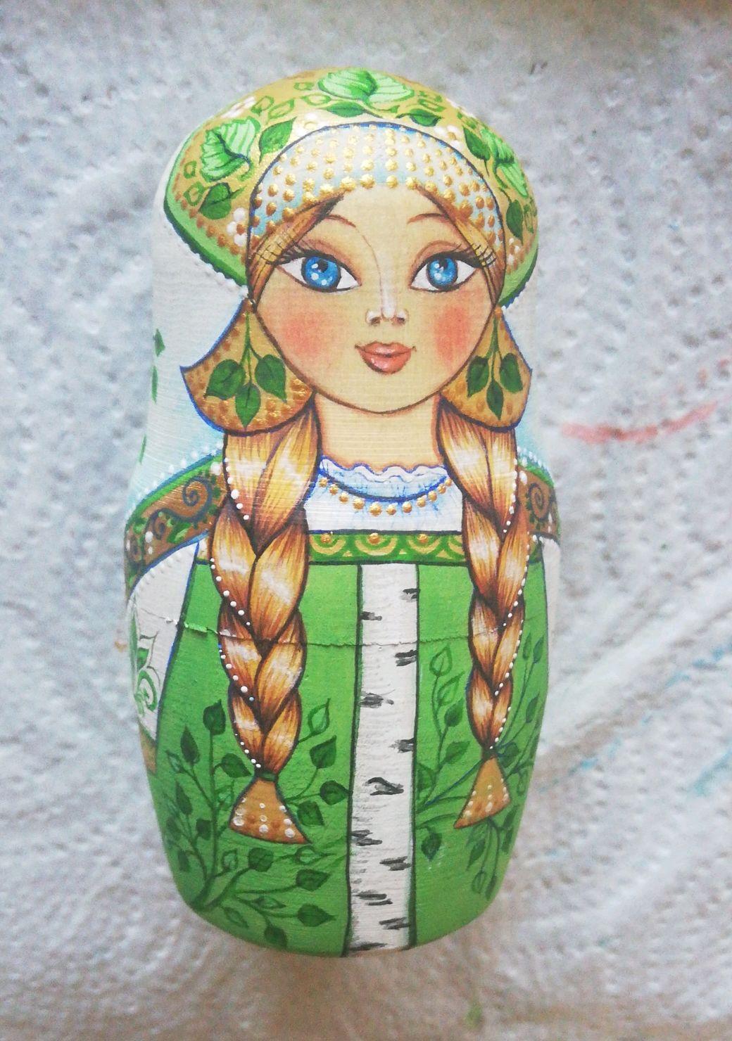 Матрешка одиночная Девочка Березка, Матрешки, Самара,  Фото №1