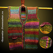 Одежда ручной работы. Ярмарка Мастеров - ручная работа Зимняя радуга. Женский жилет. Handmade.
