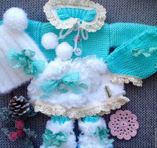 """Одежда для кукол ручной работы. Ярмарка Мастеров - ручная работа. Купить Комплект одежды для куклы """"Бирюзовый"""". Handmade. Бирюзовый, юбочка"""
