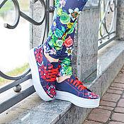 Обувь ручной работы. Ярмарка Мастеров - ручная работа слипоны женские. Handmade.
