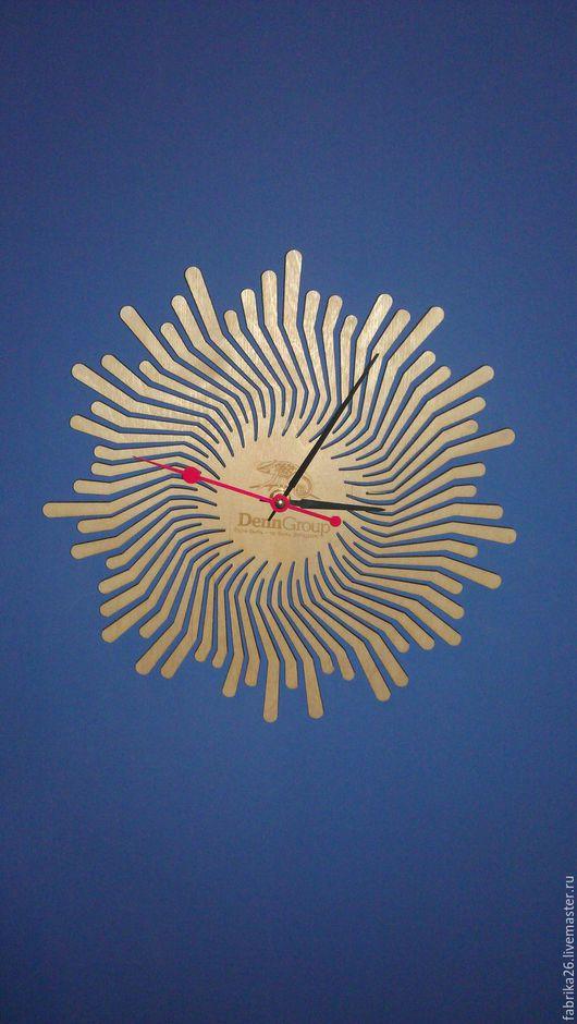 Часы для дома ручной работы. Ярмарка Мастеров - ручная работа. Купить Часы солнышко из фанеры. Handmade. Часы, дизайн интерьера
