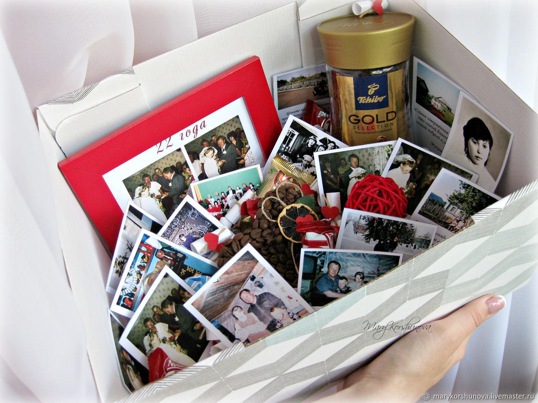 """Подарочные наборы ручной работы. Ярмарка Мастеров - ручная работа. Купить Коробочка сюрприз """"С годовщиной свадьбы!"""". Handmade. Коробка"""