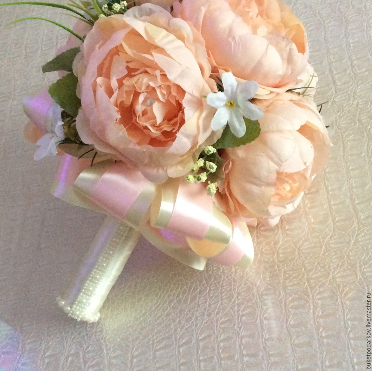 Букет невесты своими руками из атласных лент: инструкция и