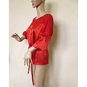 Одежда handmade. Livemaster - original item Blouse Luba / Italian silk, chiffon. Handmade.