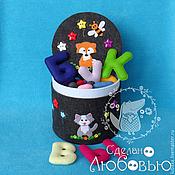 Stuffed Toys handmade. Livemaster - original item Alphabet felt box. Handmade.
